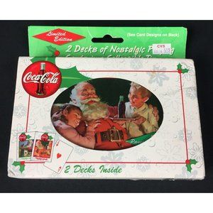 New 2 Decks Playing Cards in Tin 1999 Coca Cola